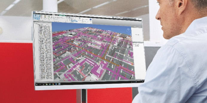 A Hilti engineer modelling MEP supports in BIM